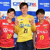 INAC神戸 スタンボー華、福田ゆい、牛島理子の3選手が、6・2マイナビ仙台戦「神戸新聞DAY」をPR 「生で見てほしい」