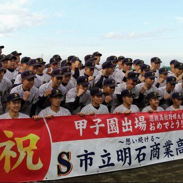 選抜高校野球、兵庫から明石商が出場決定
