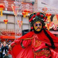 神戸南京町「春節祭」を盛り上げる「変臉」