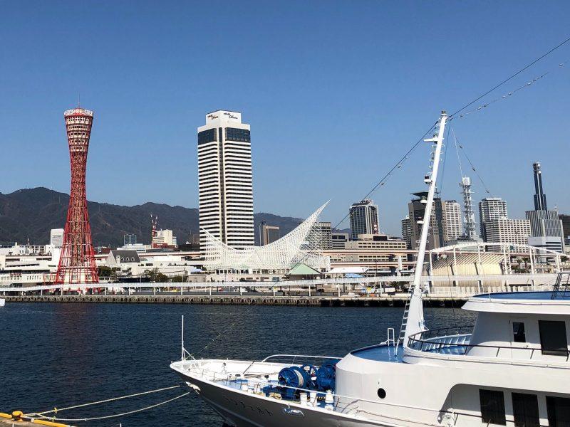 外国人旅行客が多く訪れた神戸港周辺