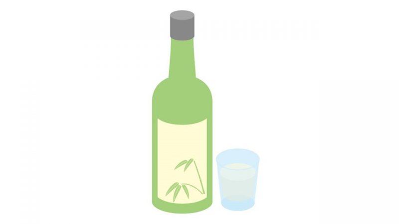 韓国の居酒屋には「緑の小瓶」が欠かせない。