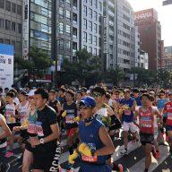 昨年の神戸マラソンのようす