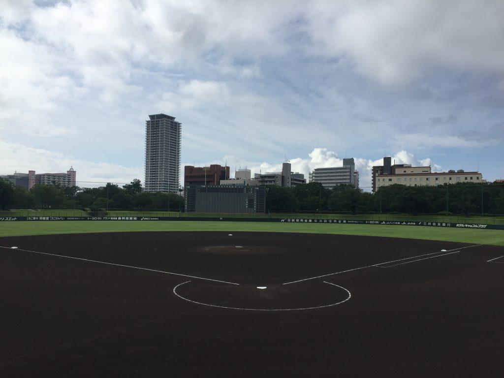 「令和2年度夏季兵庫県高等学校野球大会」会場の1つ、明石トーカロ球場