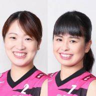櫻井美樹選手と 堀込奈央選手(写真:姫路ヴィクトリーナ)