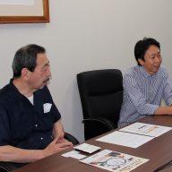 ソリッドソニック株式会社の代表取締役CEOの久保貴弘さん(右)と、取締役CTOの田中哲廣さん(左)(写真:ラジオ関西)