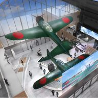 九七式艦上攻撃機と紫電改の実物大模型展示イメージ(加西市提供)