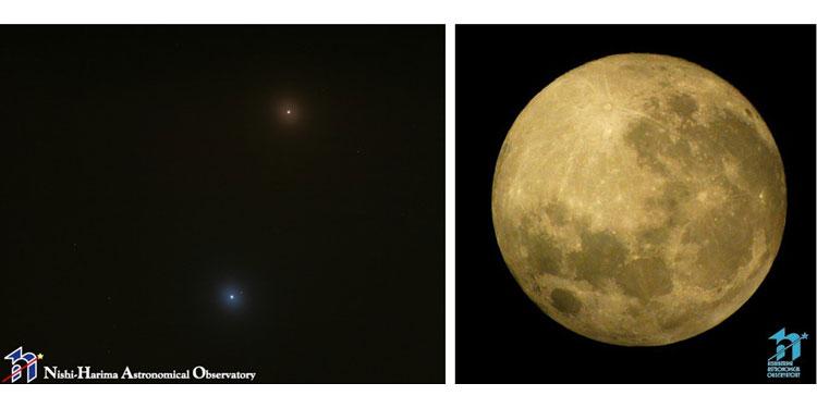 10月の星空散歩 火星接近と中秋の名月