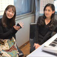 森川美穂さん(右)と津田明日香アナウンサー(左)