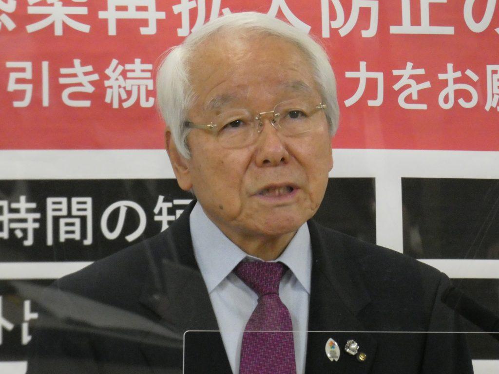 井戸・兵庫県知事「感染者数、足踏みが続く」(3日午後 兵庫県庁)