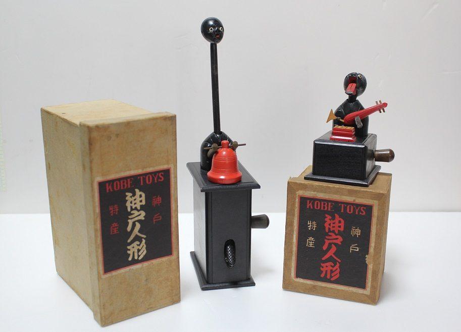 小田太四郎商店のパッケージ・「釣鐘お化け」と「琵琶弾き」(昭和初期)
