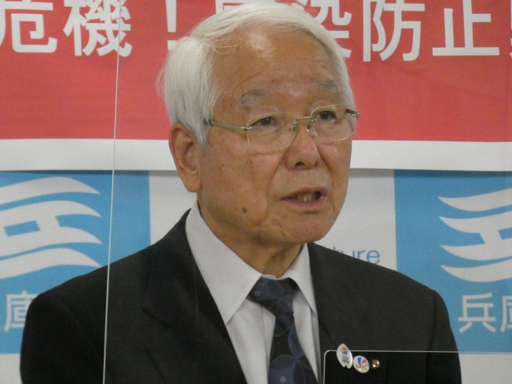 井戸・兵庫県知事 3度目の緊急事態宣言が発令された場合「プロ野球の試合までやめる必要性はないのでは」(21日午後 兵庫県庁)