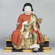 「聖徳太子童形半跏像」令和3年(2021)、大阪・四天王寺