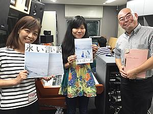 アスミック・エース 北川依代さん(左) 楠寺住職 千葉悠晃さん(右)