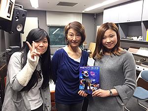 元読売テレビアナウンサー 脇浜紀子さん(中) GAGA 小野理恵さん(右)